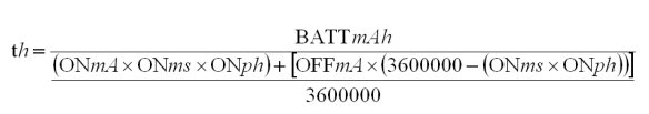 Battery Life Equation